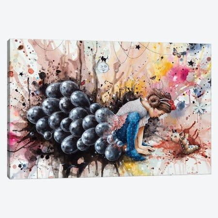 An Afternoon Of Full Moon Canvas Print #VMZ3} by Virginie Mazureau Canvas Wall Art
