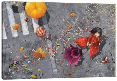 Autumn's Words Canvas Art Print