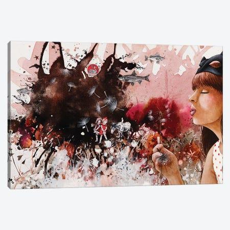 Dandelions Canvas Print #VMZ6} by Virginie Mazureau Canvas Art Print