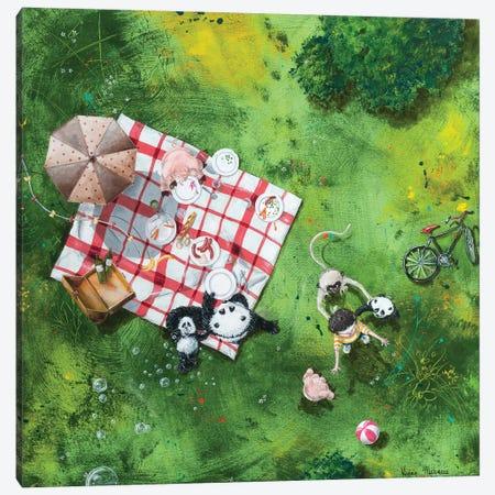 Le Picnic II Canvas Print #VMZ9} by Virginie Mazureau Canvas Art