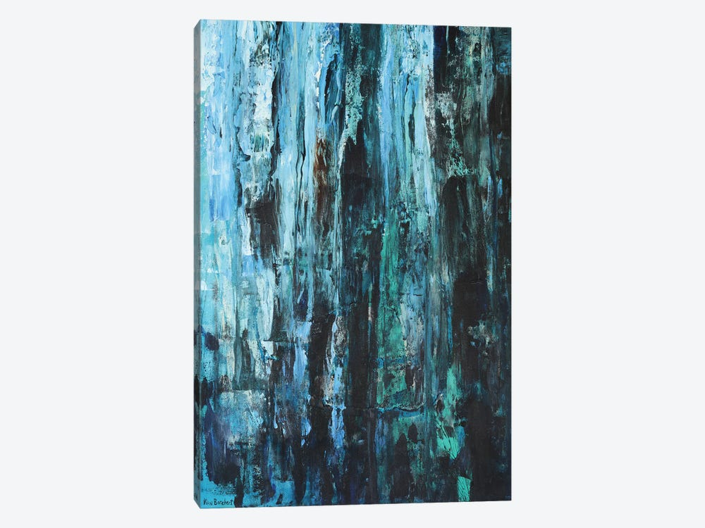 Blues And Greens by Vian Borchert 1-piece Canvas Art