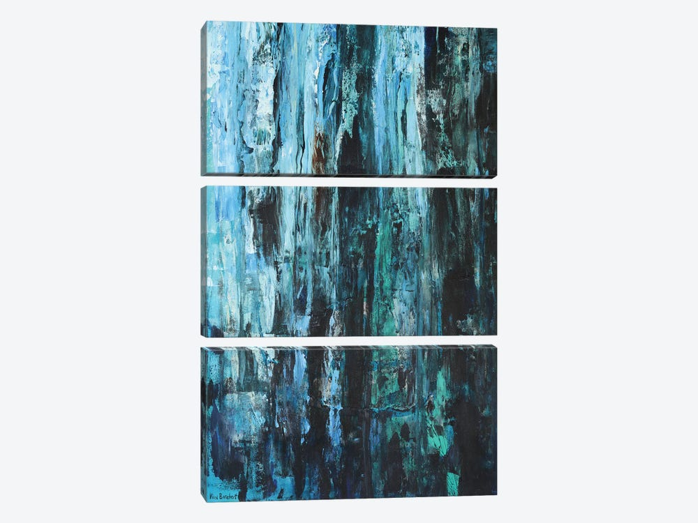 Blues And Greens by Vian Borchert 3-piece Canvas Art
