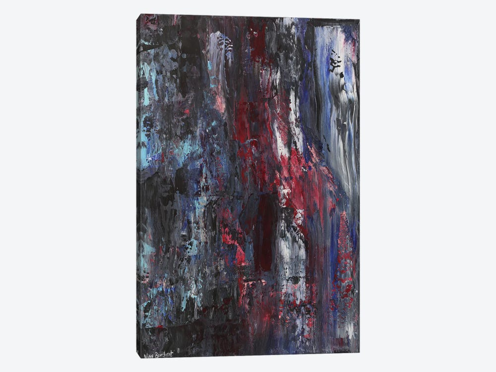 Burgundy by Vian Borchert 1-piece Canvas Art Print