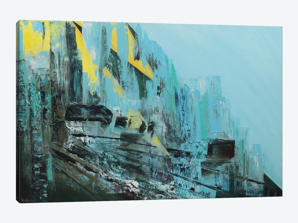 Cascading by Vian Borchert 1-piece Canvas Art