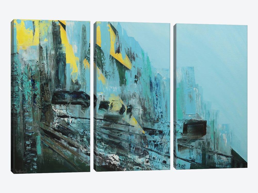 Cascading by Vian Borchert 3-piece Canvas Artwork