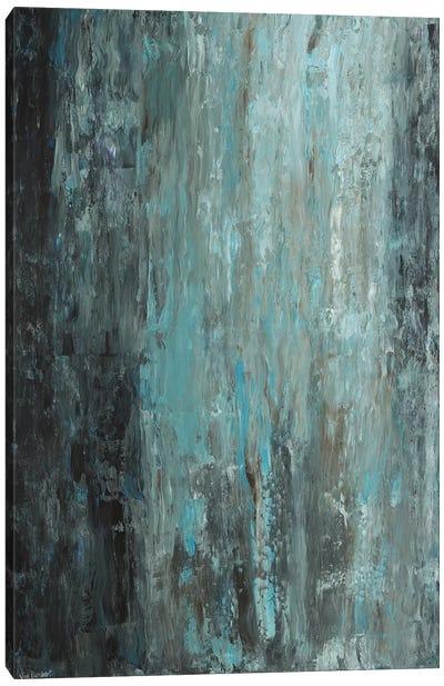 Light Blue Light Green Canvas Art Print
