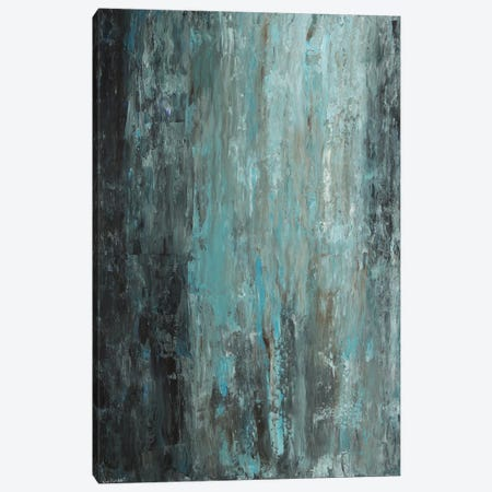Light Blue Light Green Canvas Print #VNB20} by Vian Borchert Canvas Art