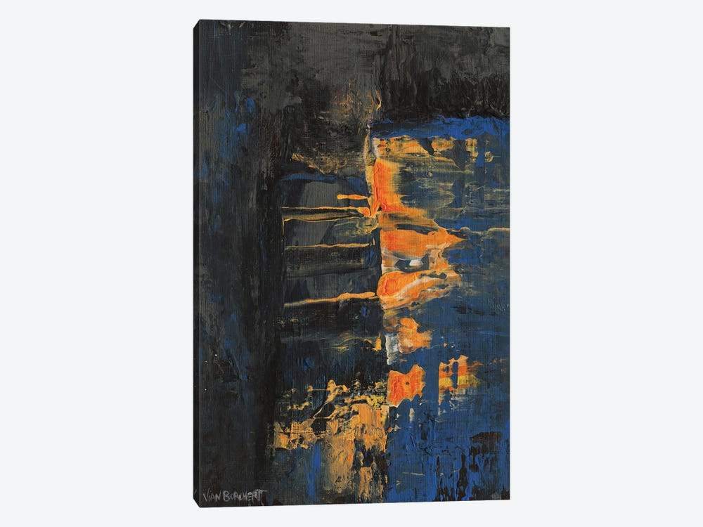 Navy Orange by Vian Borchert 1-piece Canvas Wall Art