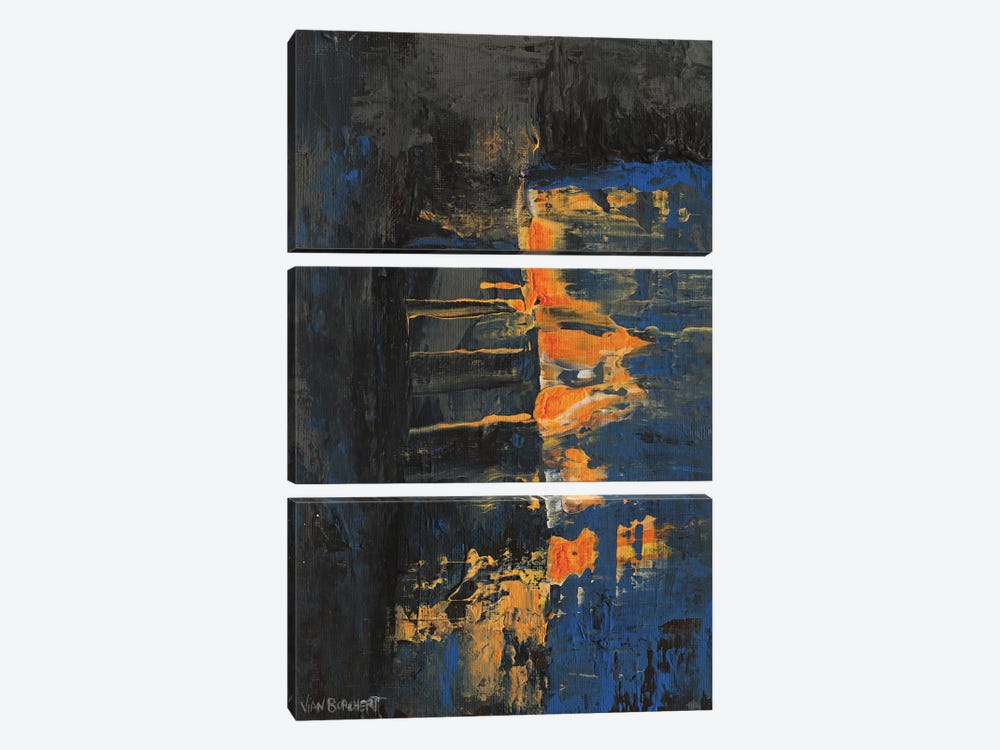 Navy Orange by Vian Borchert 3-piece Canvas Art