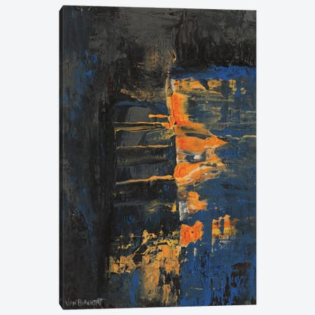 Navy Orange Canvas Print #VNB21} by Vian Borchert Canvas Wall Art