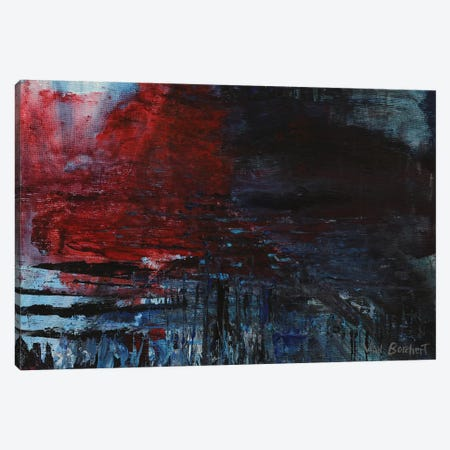 Red Splash Canvas Print #VNB26} by Vian Borchert Art Print