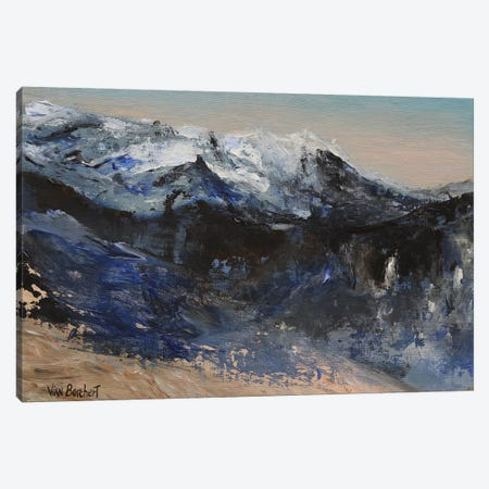 Snow Mountains Canvas Print #VNB29} by Vian Borchert Canvas Wall Art