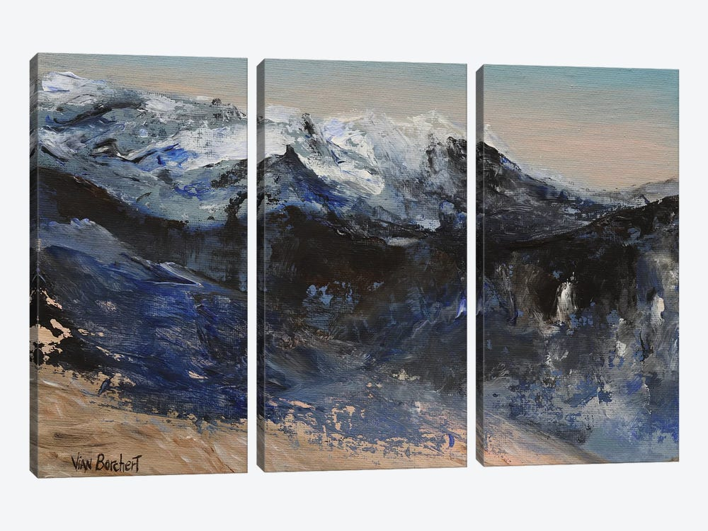 Snow Mountains 3-piece Canvas Wall Art
