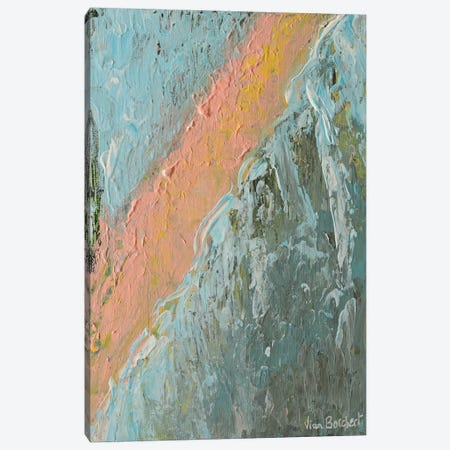 Abstract Peach Canvas Print #VNB2} by Vian Borchert Canvas Wall Art