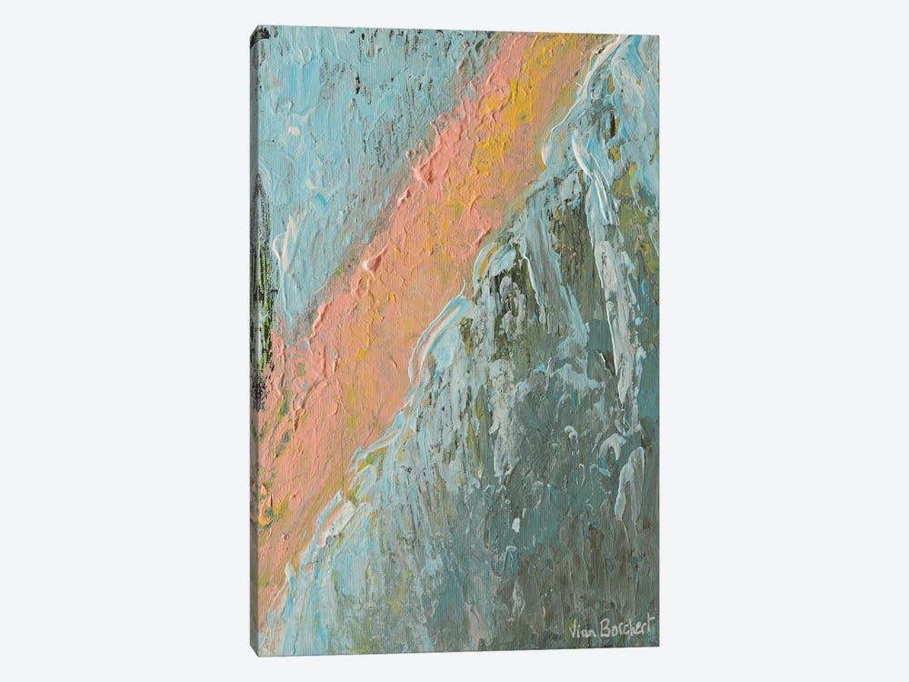 Abstract Peach by Vian Borchert 1-piece Canvas Wall Art