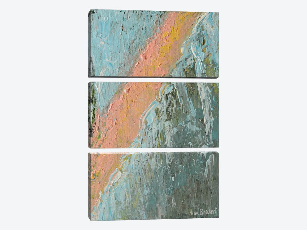 Abstract Peach by Vian Borchert 3-piece Canvas Wall Art