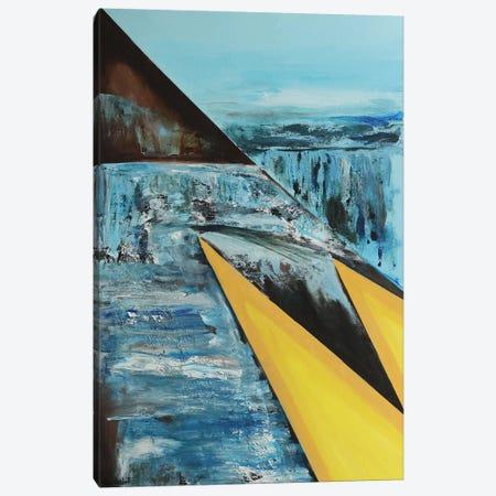Two Yellow Triangles Canvas Print #VNB32} by Vian Borchert Canvas Art Print