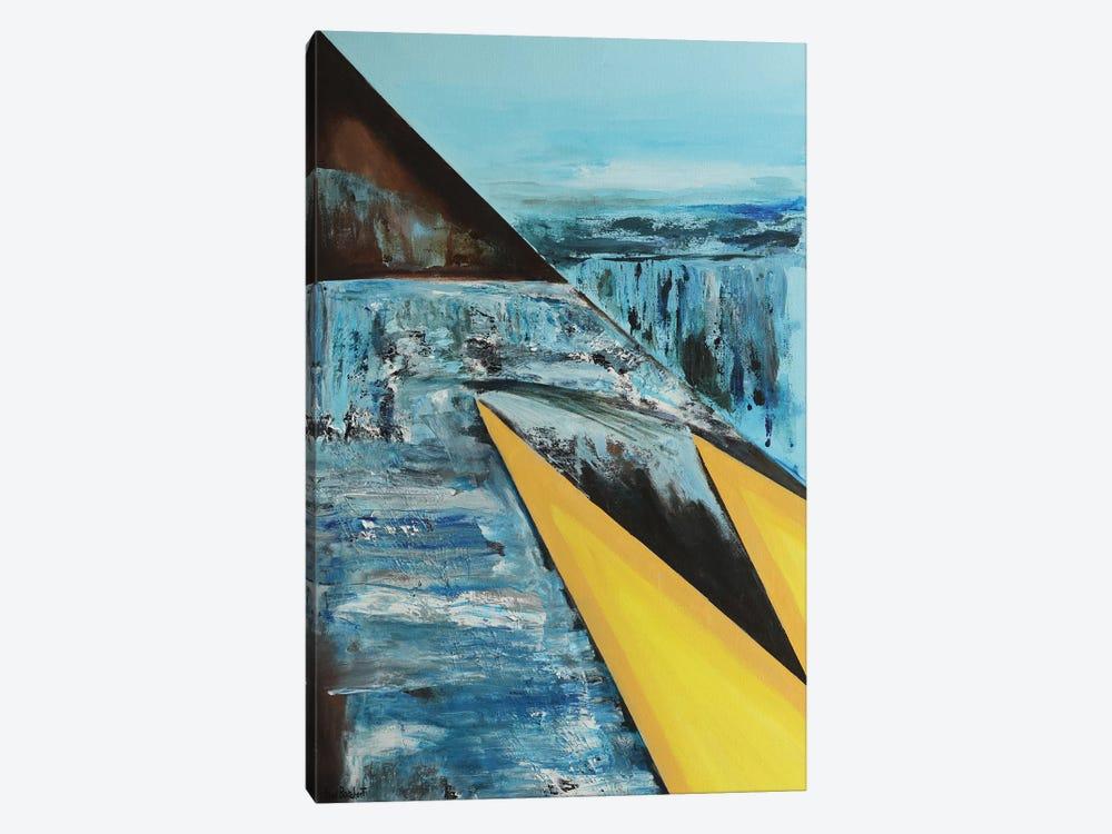 Two Yellow Triangles by Vian Borchert 1-piece Canvas Artwork