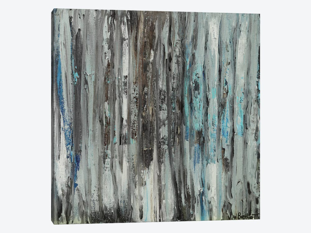 Woods In Gray by Vian Borchert 1-piece Canvas Artwork