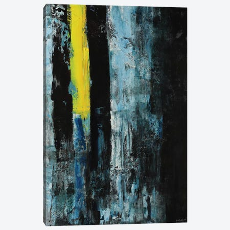 Yellow Line Canvas Print #VNB37} by Vian Borchert Canvas Artwork