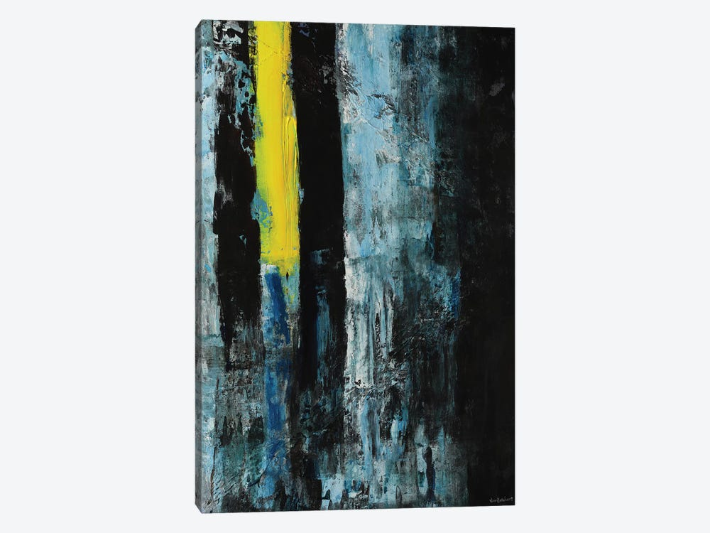 Yellow Line by Vian Borchert 1-piece Canvas Art Print