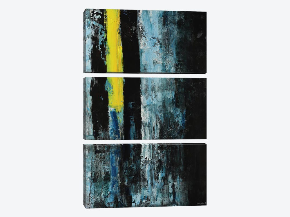 Yellow Line by Vian Borchert 3-piece Canvas Art Print