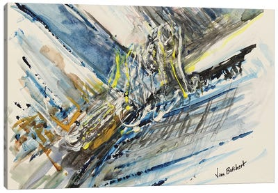 Abstract Watercolor Canvas Art Print