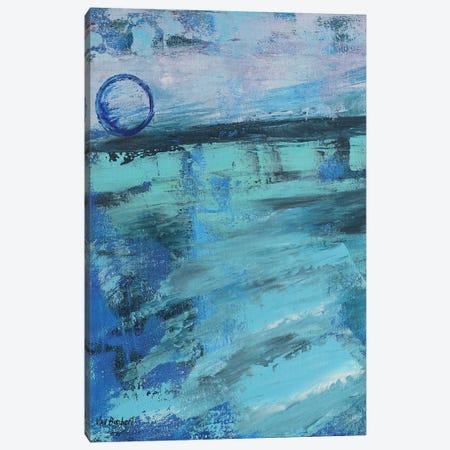Blue Moon Canvas Print #VNB39} by Vian Borchert Art Print