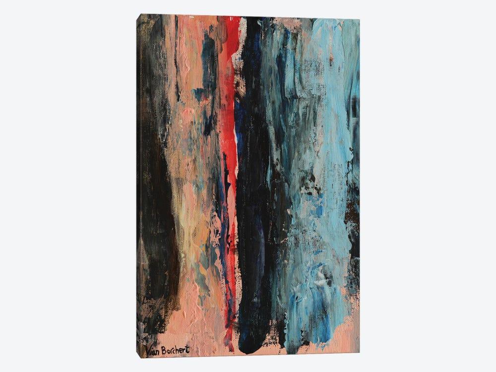 Abstract Red by Vian Borchert 1-piece Art Print