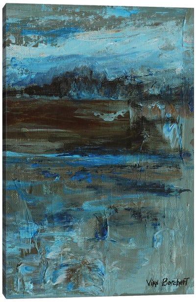 Brown Blue Canvas Art Print