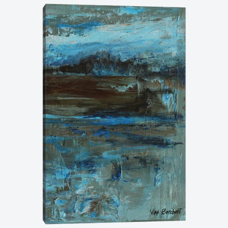 Brown Blue Canvas Print #VNB40} by Vian Borchert Canvas Wall Art