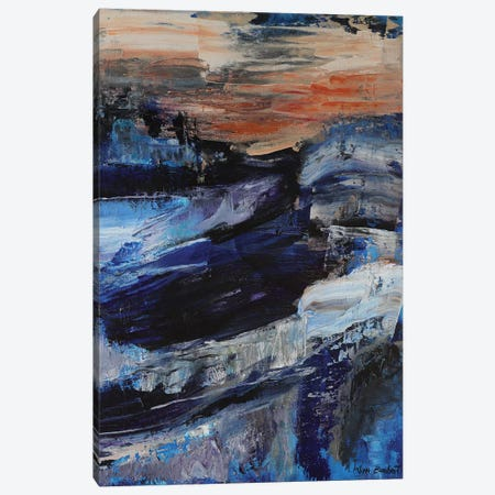 Deep Blue Canvas Print #VNB41} by Vian Borchert Canvas Art