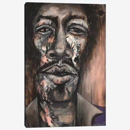 Jimi Hendrix  Canvas Print #VNB47} by Vian Borchert Canvas Print
