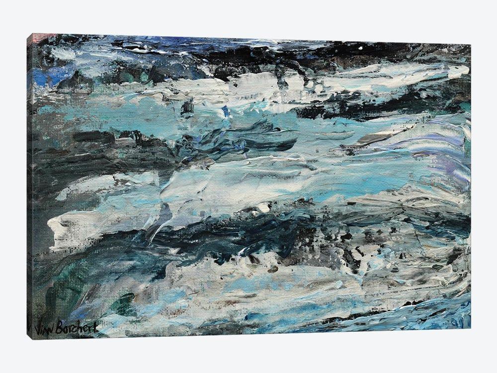 Abstract Snow Mountains by Vian Borchert 1-piece Canvas Art