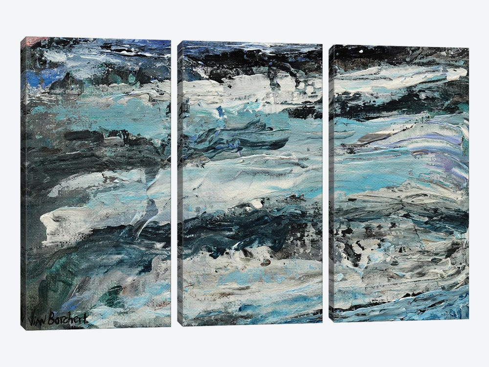 Abstract Snow Mountains by Vian Borchert 3-piece Canvas Wall Art