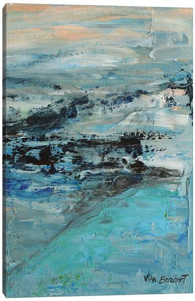 Misty Peach Canvas Art Print
