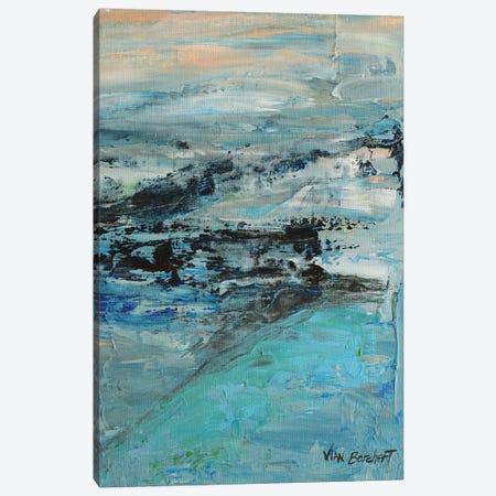 Misty Peach 3-Piece Canvas #VNB53} by Vian Borchert Canvas Art Print