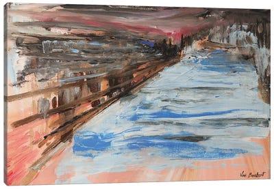 Peach Distance Canvas Art Print