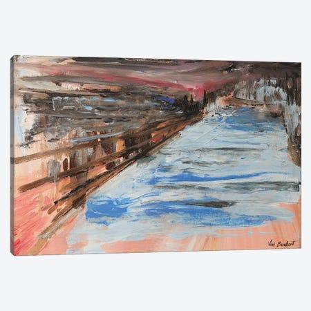 Peach Distance 3-Piece Canvas #VNB57} by Vian Borchert Canvas Art