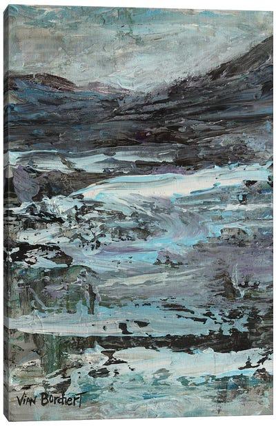 Purple White Canvas Art Print