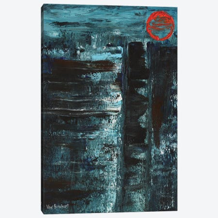 Red Moon Canvas Print #VNB59} by Vian Borchert Canvas Print