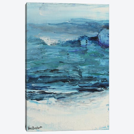 Summer Blue - Blue Moon Canvas Print #VNB62} by Vian Borchert Canvas Artwork