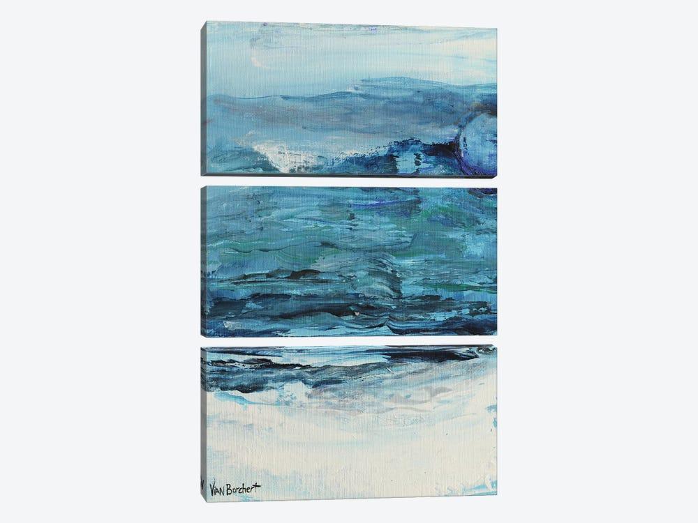 Summer Blue - Blue Moon by Vian Borchert 3-piece Canvas Art Print