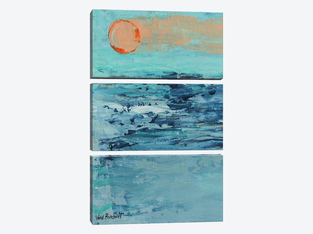 Summer Sunset by Vian Borchert 3-piece Canvas Art Print