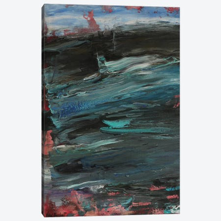 Turquoise 3-Piece Canvas #VNB69} by Vian Borchert Canvas Artwork