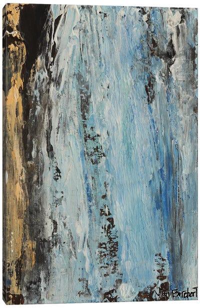 Beige Light Blue Canvas Art Print