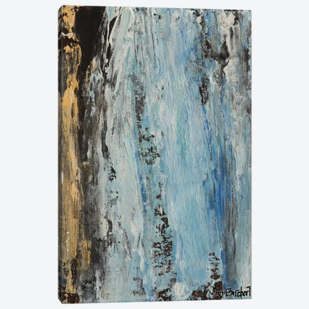 Beige Light Blue Canvas Print #VNB6} by Vian Borchert Canvas Art Print