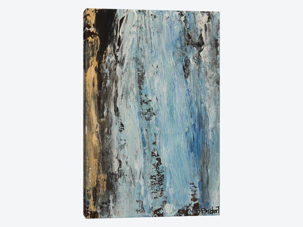 Beige Light Blue by Vian Borchert 1-piece Canvas Art