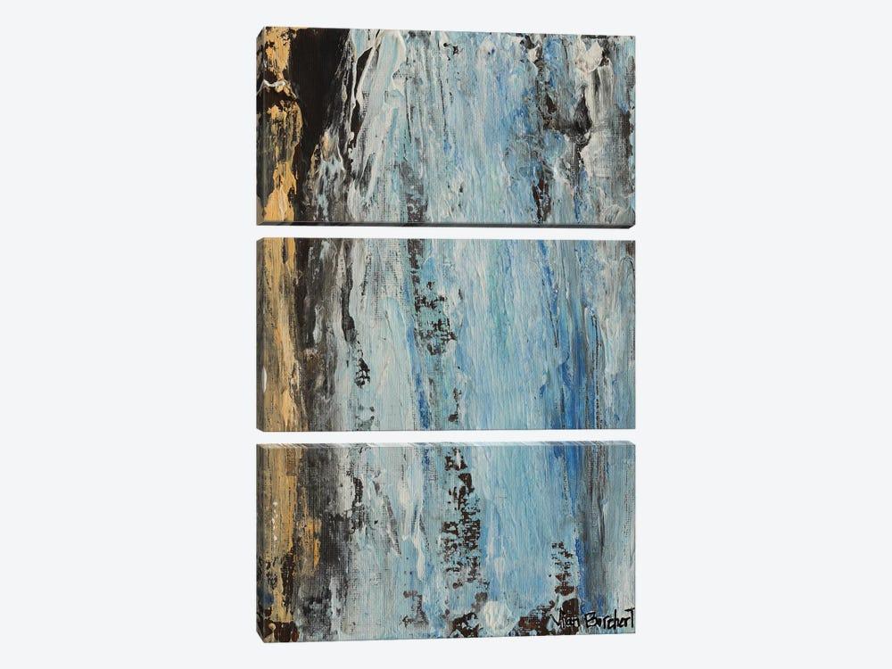 Beige Light Blue by Vian Borchert 3-piece Canvas Artwork