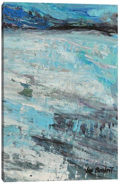 White Blue Canvas Art Print